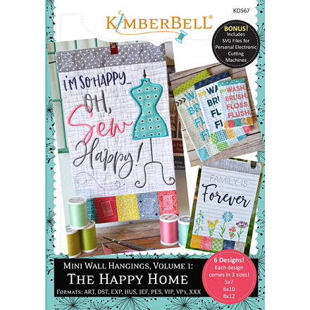 Kimberbell Mini Wall Hangings Volume 1: The Happy Home Embroidery CD