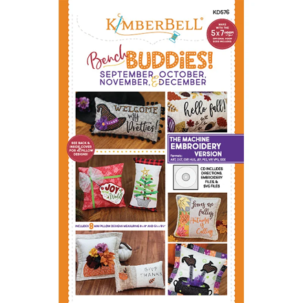 Kimberbell Bench Buddies Machine Embroidery CD (Sep-Oct-Nov-Dec)