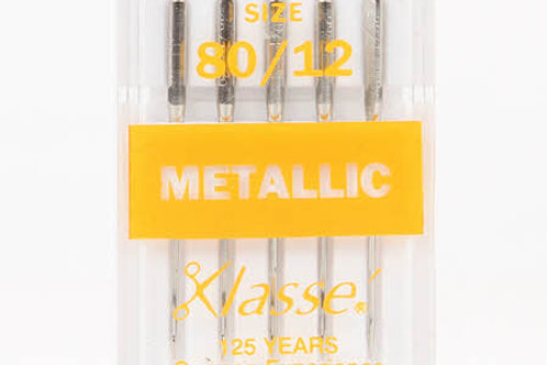 Klasse Metallic Needles 80/12 and 90/14