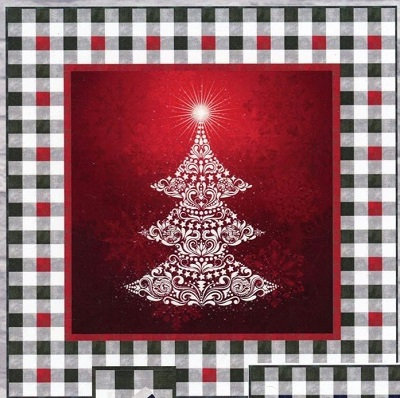 Gradients Holiday Christmas Tree Panel Quilt Kit