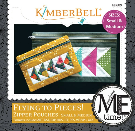 Kimberbell Flying to Pieces Zipper Pouch Embroidery CD - Small & Medium