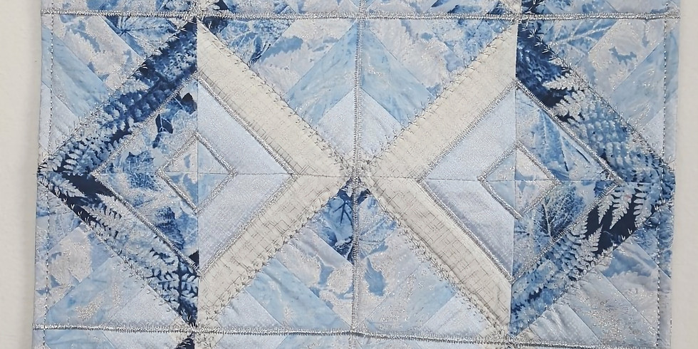 Disappearing Stripper Quilted Table Topper
