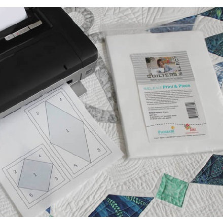 Quilters' Select Print and Piece (25 pieces 8-1/2 in x 11 in printable sheets)