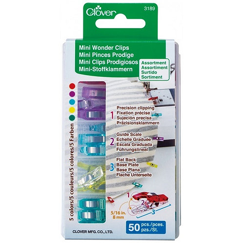 Mini Wonder Clips Assorted Colors 50 ct Package