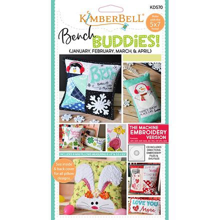 Kimberbell Bench Buddies Machine Embroidery CD (Jan-Feb-Mar-Apr)