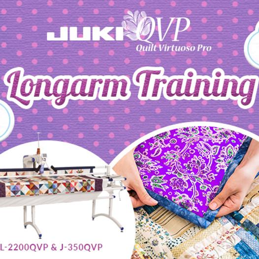 JUKI Longarm & Sitdown Quilting Machine Owner Training