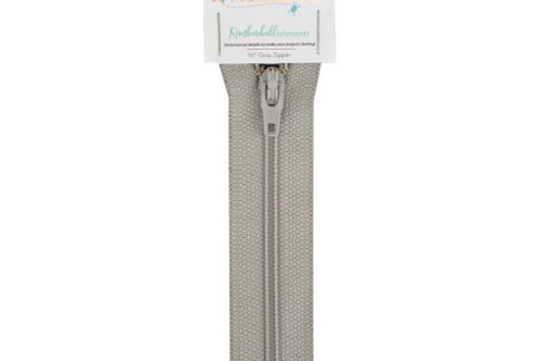 Kimberbell Kimberbellishments 16-in Gray Zipper