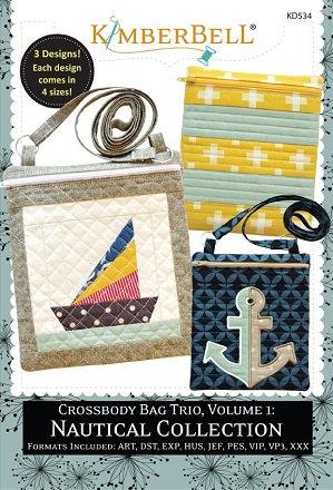 Kimberbell Crossbody Bag Trio Volume 1 Nautical Collection Embroidery CD