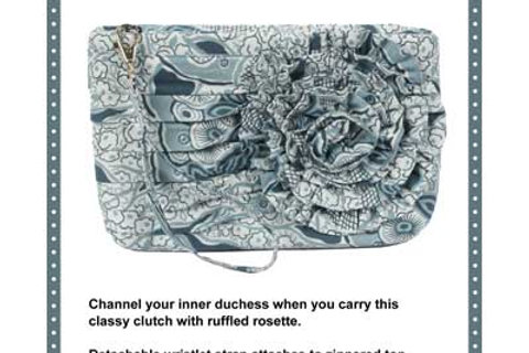 By Annie Pattern: Going Downton - Ruffled Wristlet Clutch