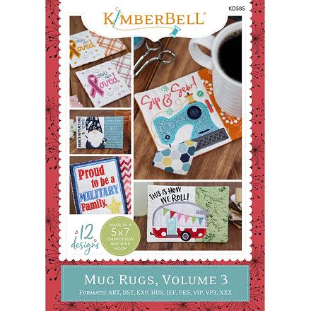 Kimberbell Mug Rugs Volume 3 Embroidery CD