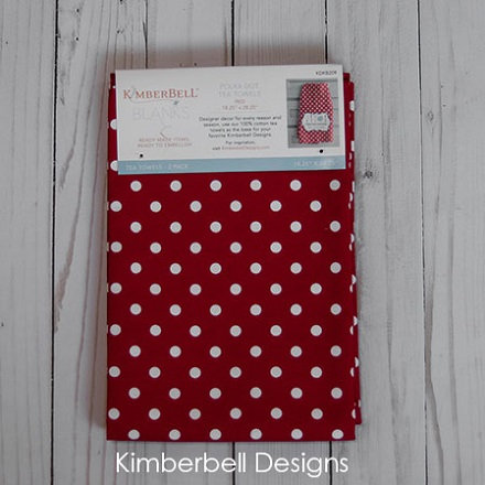 Kimberbell Polka Dot Tea Towels - Red (2 pk)