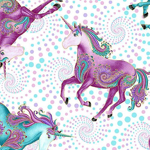 Benartex Believe In Unicorns - All Over Unicorns Pastel