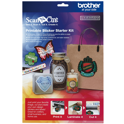 Brother Scan N Cut Printable Sticker Starter Kit