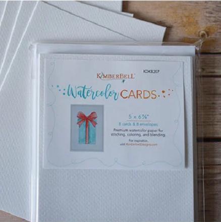 """Kimberbell Premium Watercolor Cards & Enbelopes - 5 X 6-7/8"""" (8 pk)"""