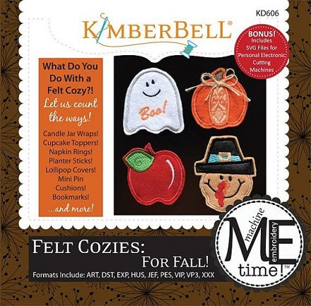 Kimberbell Felt Cozies for Fall Embroidery CD