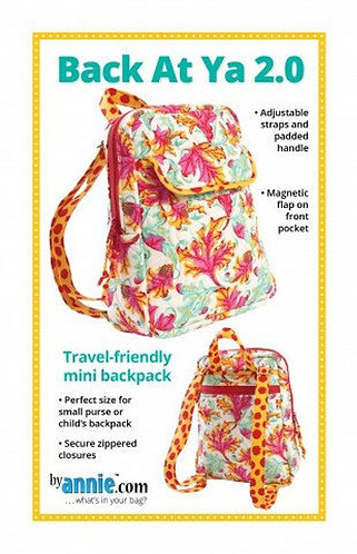 By Annie Pattern: Back At Ya Backpack 2.0