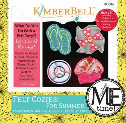 Kimberbell Felt Cozies for Summer Embroidery CD