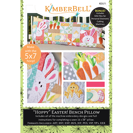 Kimberbell Hoppy Easter Bench Pillow Machine Embroidery CD