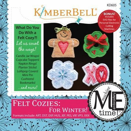 Kimberbell Felt Cozies for Winter Embroidery CD