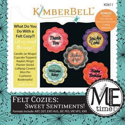 Kimberbell Felt Cozies Sweet Sentiment Embroidery CD