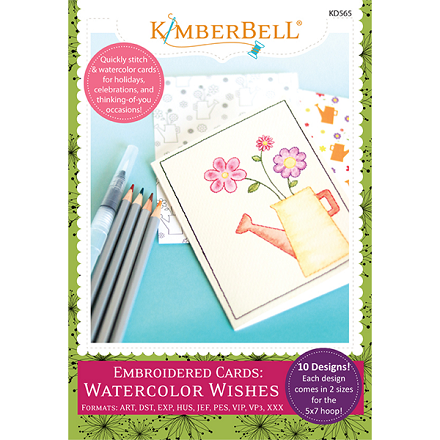 Kimberbell Embroidered Cards: Watercolor Wishes Embroidery CD
