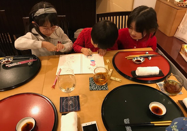 Japanese dinner party in Dec, 2019