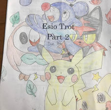 Esio Trot worksheet cover drawing, Grade 2, 2018