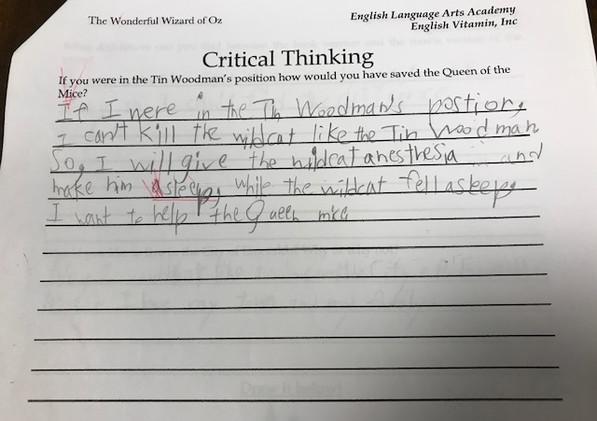 Critical Thinking Question-OZ