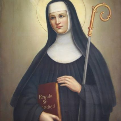 Santa Escolástica - Fundadora da Ordem das Beneditinas