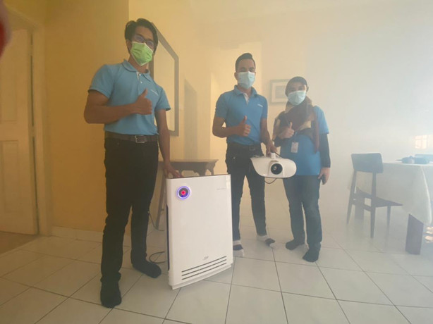 Sanitation Process with Coway Team
