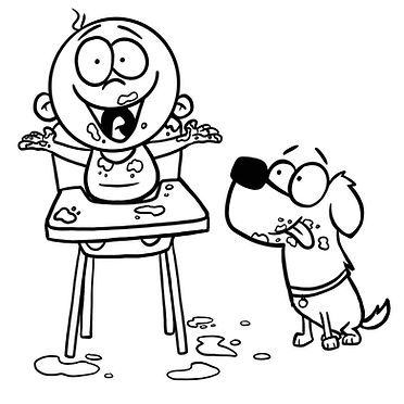 Moose and Milo Eating.jpg