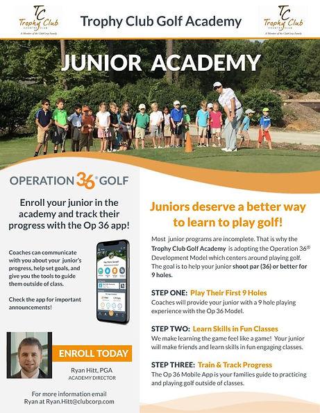 TC Junior Academy Program Flier 2020 Fro