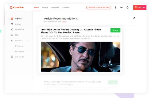crowdfire article curation feature branding expert brandingexpert.net