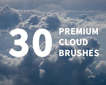 30 Premium Cloud Brushes for Photoshop image jpeg branding expert brandingexpert.net shot item resource but social media photoshop project adobe cinematic nature photo manipulation photoediting graphic design