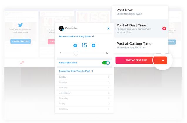 crowdfire automatic custom best times to post geature social media management branding expert brandingexpert.net