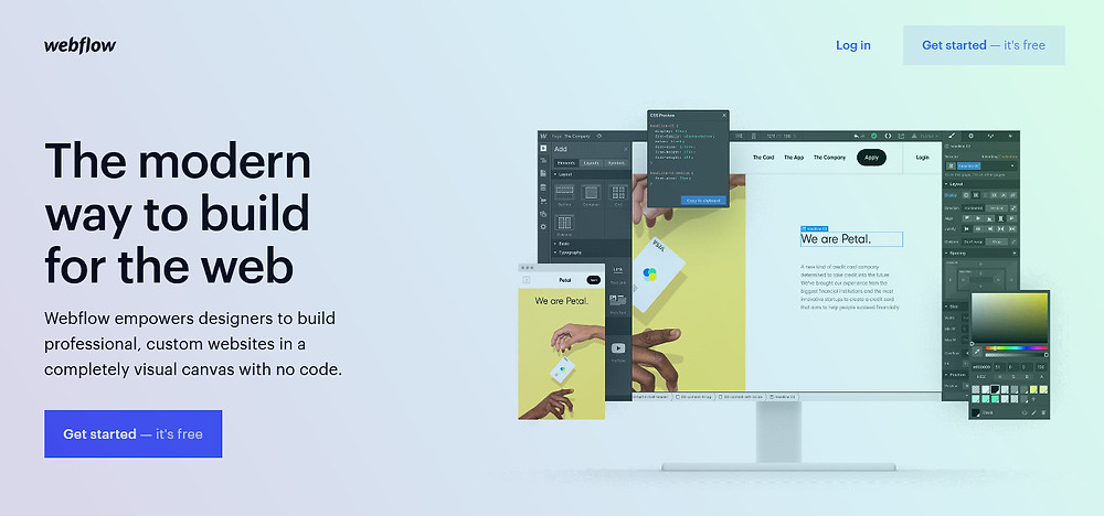 Webflow homepage best website builder easy way to build a website the modern way to build for the web free