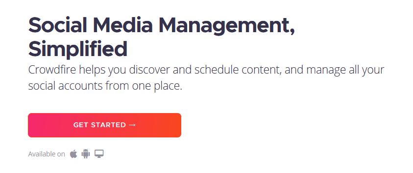 Crowdfire social media management branding expert brandingexpert.net best tool for social media management