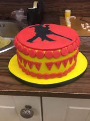 Tango themed celebration cake