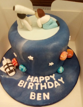Space themed cake for adults