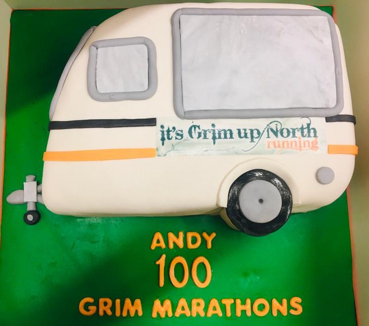 Caravan themed cake