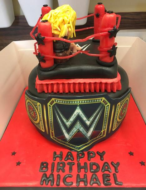WWE wrestling themed cake