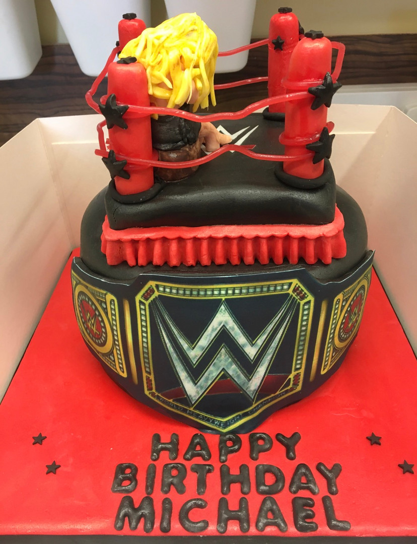 WWE wrestling themed cake