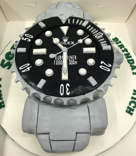 Rolex themed celebration cake