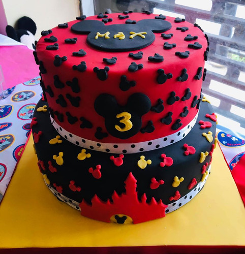 Mickey Mouse inspired Birthday cake