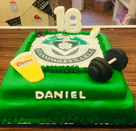 Rugby themed 18th Birthday Cake