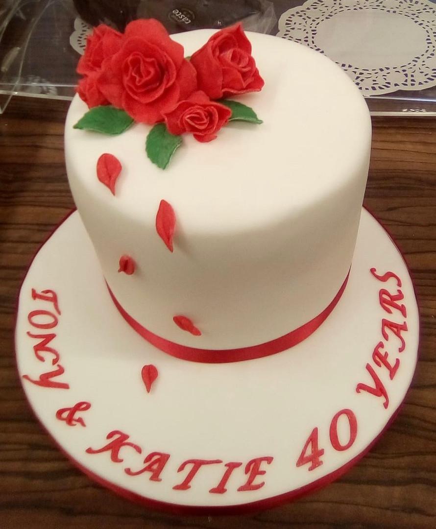 The prefecy ruby anniversary cake