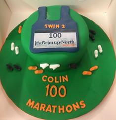 100 Marathons Celebration Cake