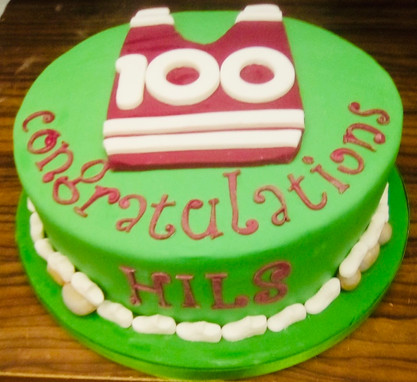 100th Marathon celebration cake