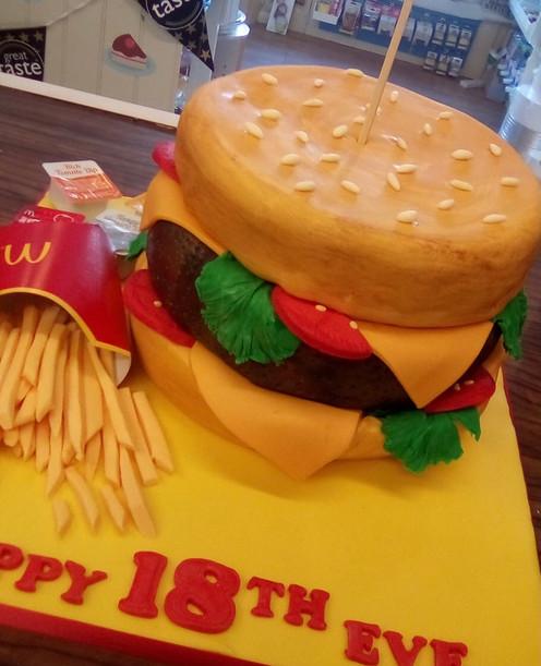 Our Legendary Burger Cake