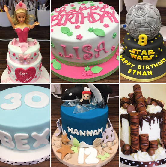 A selection of our past celebration cakes